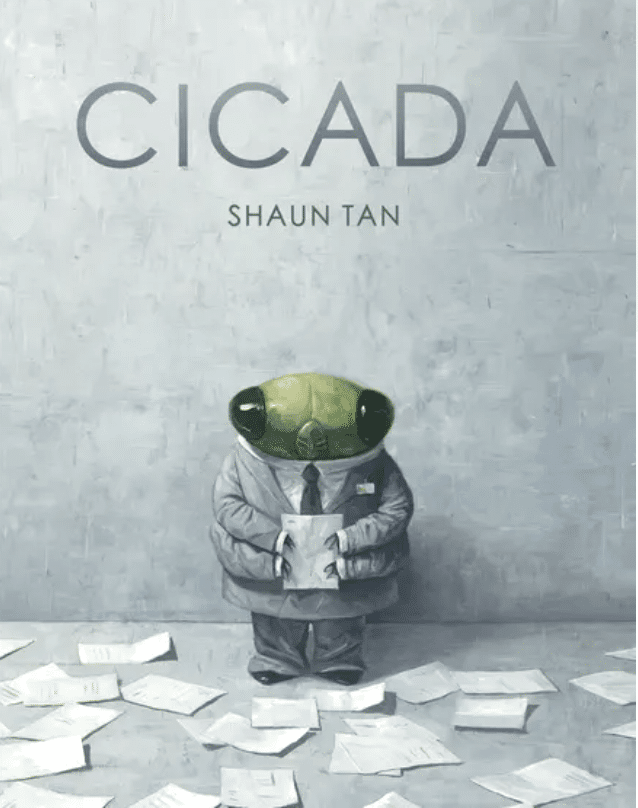 Cicada by Shaun Tan Children's book for adults about what's important in life