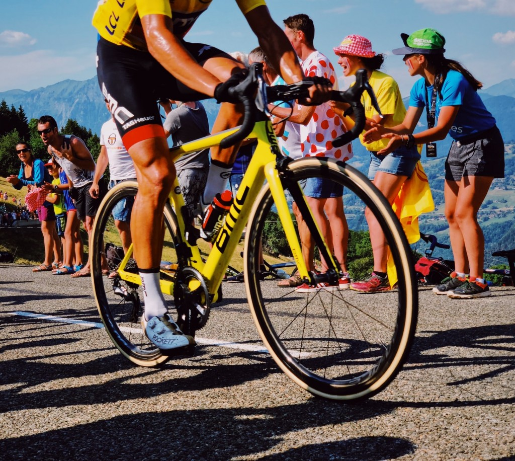 Le Tour de France bicycle and fans yellow jersey life lessons Generative Change Life Changing Coaching Online and By Phone