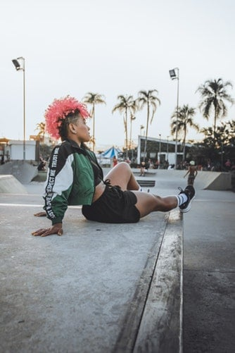 punk warrior lady palm trees powerful secret to happiness
