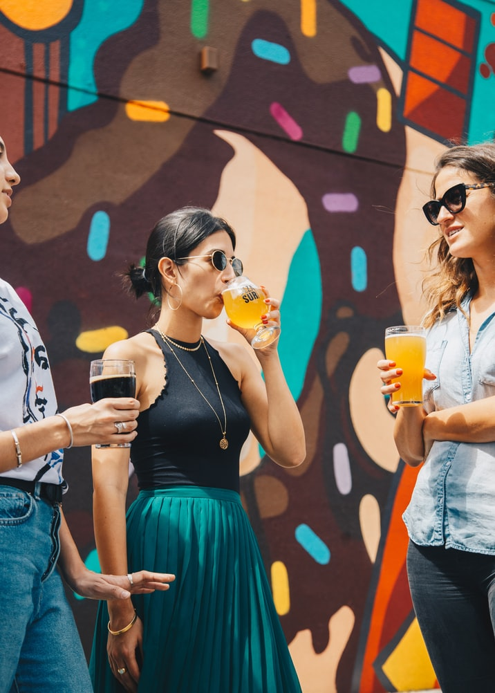 Three young women drinking beer relationships matter Generative Change Life Changing Coaching Online and by Phone