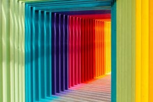 Rainbow tunnel of bars the key to thriving in lockdown Generative Change Life Changing Coaching Online and By Phone
