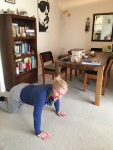 Woman doing push ups Elevate your mood using only your body weight Generative Change Life Changing Coaching Online & By Phone